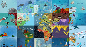 In the Spirit of Piri Reis, GRA Students Create World Map