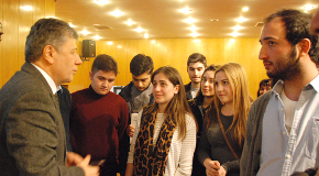 Mustafa Balbay Meets With Bilkent Students