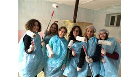 Bilkent Volunteers Spend Weekend Renovating School