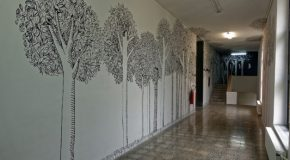 Artwork on Campus: An Arboreal Scene in the FADA Building
