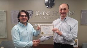 Johns Hopkins Economics Department Award Goes to Bilkent Graduate