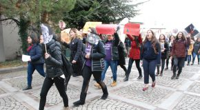 Bilkent Students Stand in Solidarity with Women on March 8