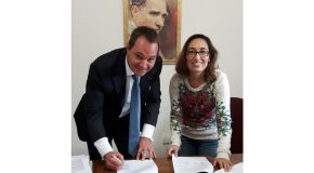 Ankara HiltonSA Hotel General Manager Signs Agreement With THM Department, Speaks to Students
