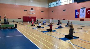 Yoga Class Students Try for Mind–Body Balance